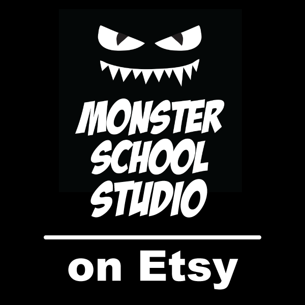 MonsterSchoolStudio on Etsy
